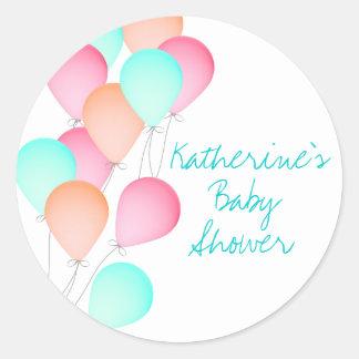 Balloon Baby Shower Round Sticker