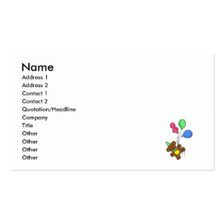 Balloon Bear Business Card