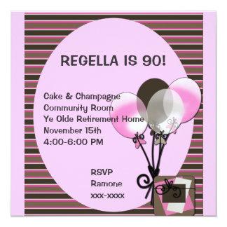 Balloon Birthday Invitation ~ Customize!