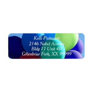 Balloon Blues Return Address Label