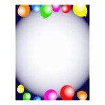 Balloon Border Letterhead Template