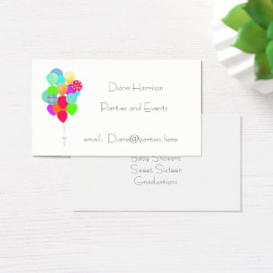 Clown entertainer business cards business card printing zazzle ca balloon bouquet business card colourmoves