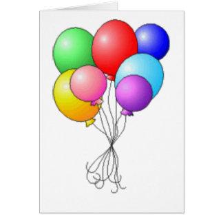 balloon bouquet card