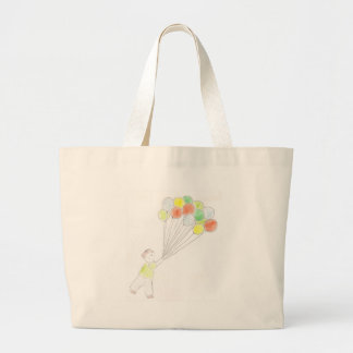 Balloon Boy Large Tote Bag