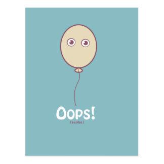 Balloon Boy Oops! (Psyke) Postcard