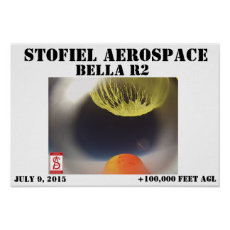 Balloon bursting on the BELLA R2 above +100,000AGL Poster