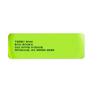 Balloon Button Style Return Address Label