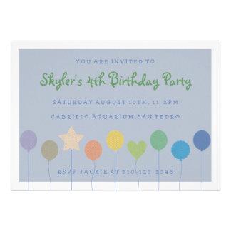 Balloon Children s Birthday Party Invitation