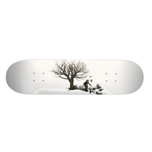 Balloon Clown Old Tree & Black Birds Original Custom Skate Board