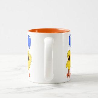 Balloon Duck Two-Tone Coffee Mug