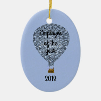 Balloon Employee of the Year Recognition Award Ceramic Ornament