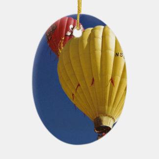 Balloon Festival Ceramic Oval Ornament