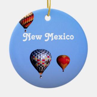 Balloon Festival in New Mexico Round Ceramic Ornament