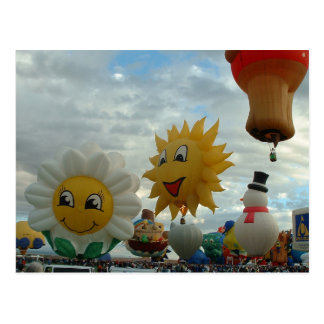Balloon Fiesta Albuquerque Special Shapes Postcard