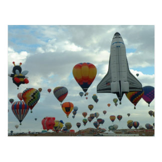 Balloon fiesta postcard