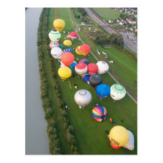 Balloon fiesta views postcard