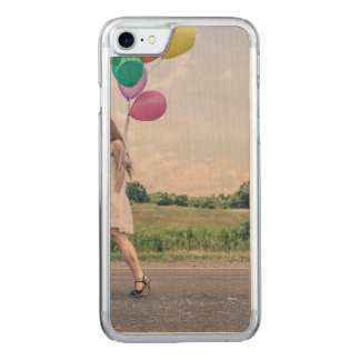 Balloon girl carved iPhone 7 case