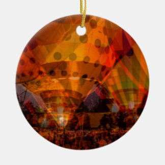 Balloon Glow Round Ceramic Ornament
