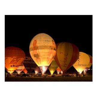 Balloon Glowing Postcard