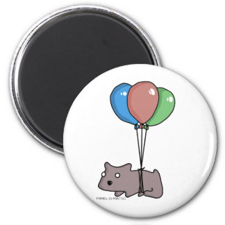 Balloon Hamster Frank by Panel-O-Matic 2 Inch Round Magnet