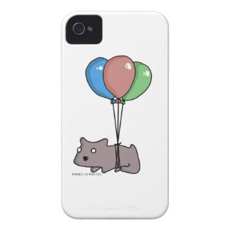Balloon Hamster Frank by Panel-O-Matic iPhone 4 Case-Mate Cases