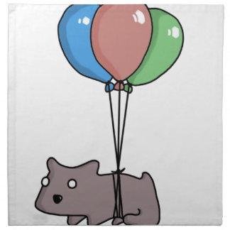 Balloon Hamster Frank by Panel-O-Matic Napkin