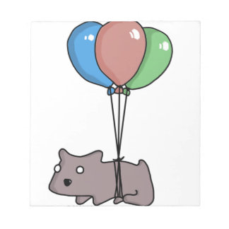 Balloon Hamster Frank by Panel-O-Matic Notepad