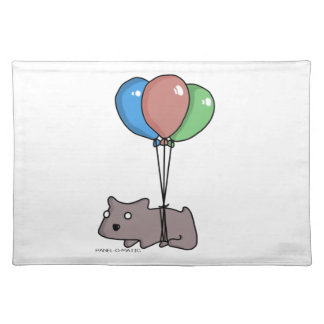 Balloon Hamster Frank by Panel-O-Matic Placemat
