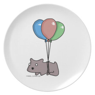 Balloon Hamster Frank by Panel-O-Matic Plate