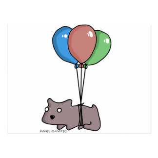 Balloon Hamster Frank by Panel-O-Matic Postcard