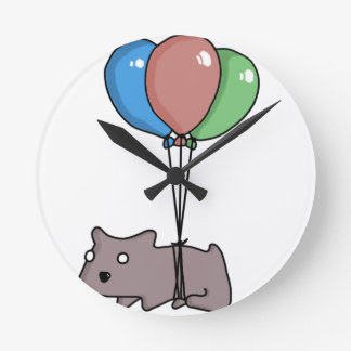 Balloon Hamster Frank by Panel-O-Matic Round Clock