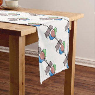 Balloon Hamster Frank by Panel-O-Matic Short Table Runner