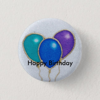 Balloon Happy Birthday Button badge