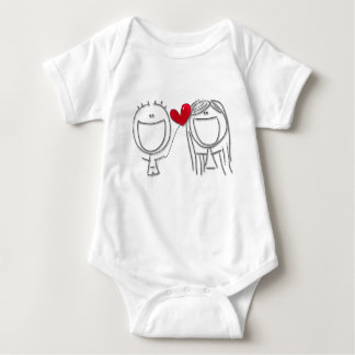 Balloon Heart For You! Baby Bodysuit