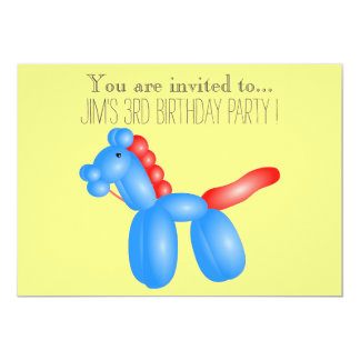 """Balloon infant or toddler young kid birthday party 5"""" x 7"""" invitation card"""