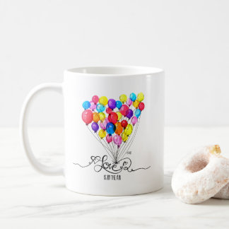 BALLOON LOVE is in the Air | Heart Coffee Mug