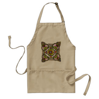 balloon mandala apron. Bohemian colorful design Standard Apron