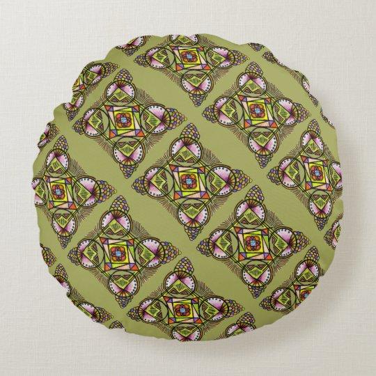Balloon mandala round pillow cushion