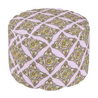 Balloon mandala - round pouf bohemian cute pattern
