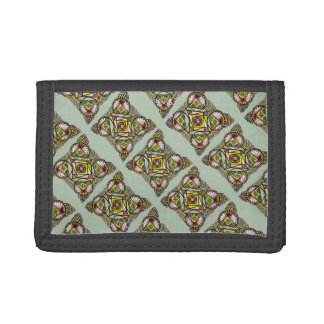 Balloon mandala wallet.cute bohemian pattern tri-fold wallet