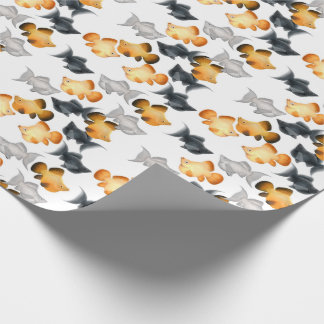 Balloon Mollies Tropical Fish Wrapping Paper