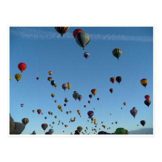Balloon morning postcard