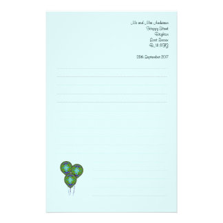 Balloon  Paper Personalized Stationery