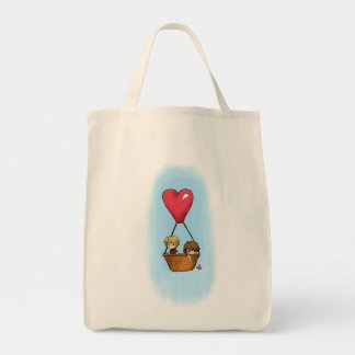 """""""Balloon Ride"""" Lionel & Grace Shopping Tote Grocery Tote Bag"""