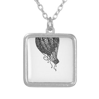 balloon silver plated necklace