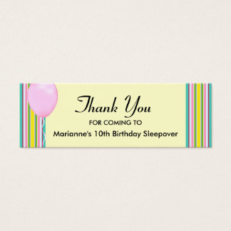 Balloon Sky Thanks Mini Business Card