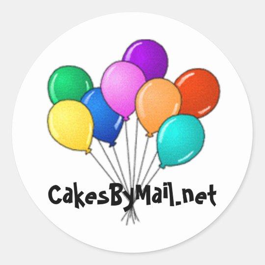 balloon sticker cakesbymail.net