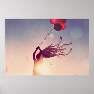 Balloon Sunshine Poster