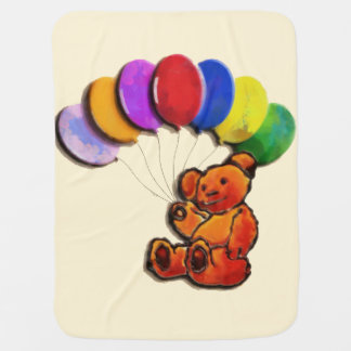 Balloon Teds Baby Blanket