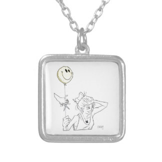Balloon.tif Silver Plated Necklace